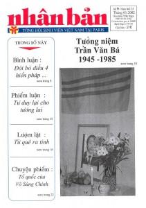 La revue Nhan Ban (n° 9 - nouvelle série 1-2002) © collection Guillemot