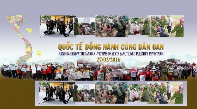 27 février 2016 : Journée internationale d'action et de solidarité avec les Dân Oan du Viêt Nam