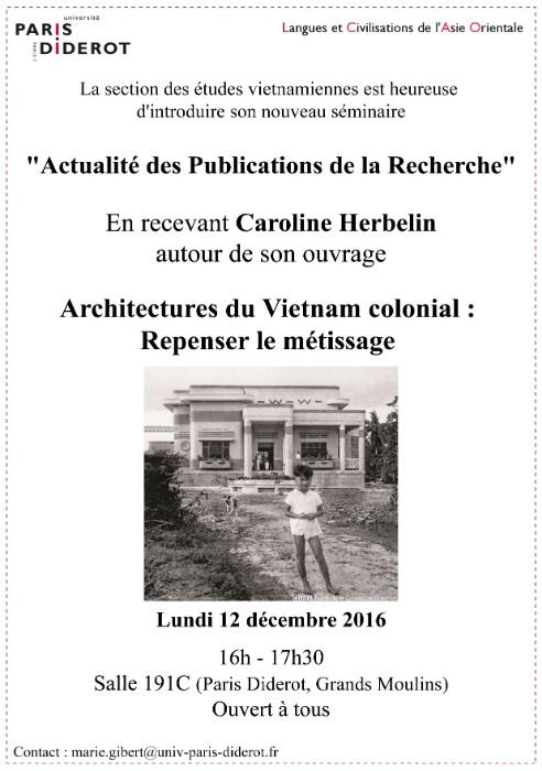 Conférence de Caroline Herbelin 12/12/2016