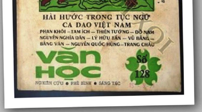 Tạp chí Văn học (1962-1975) – Phan Kim Thịnh (chủ trương biên tập) : aperçu historique et production éditoriale