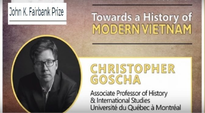 L'ouvrage Vietnam: A New History du professeur Christopher Goscha remporte le John K. Fairbank Prize for East Asian history