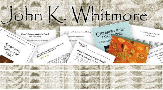 John K. Whitmore (1940–2020): In Memoriam
